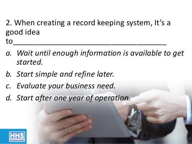tax preparation 6 2 when creating a record keeping system