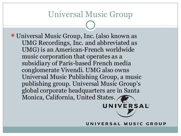 universal music group inc