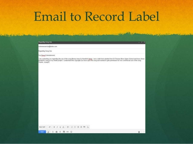 Record labels and Permission