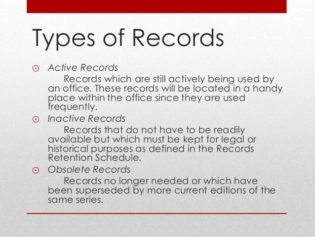 Record control management