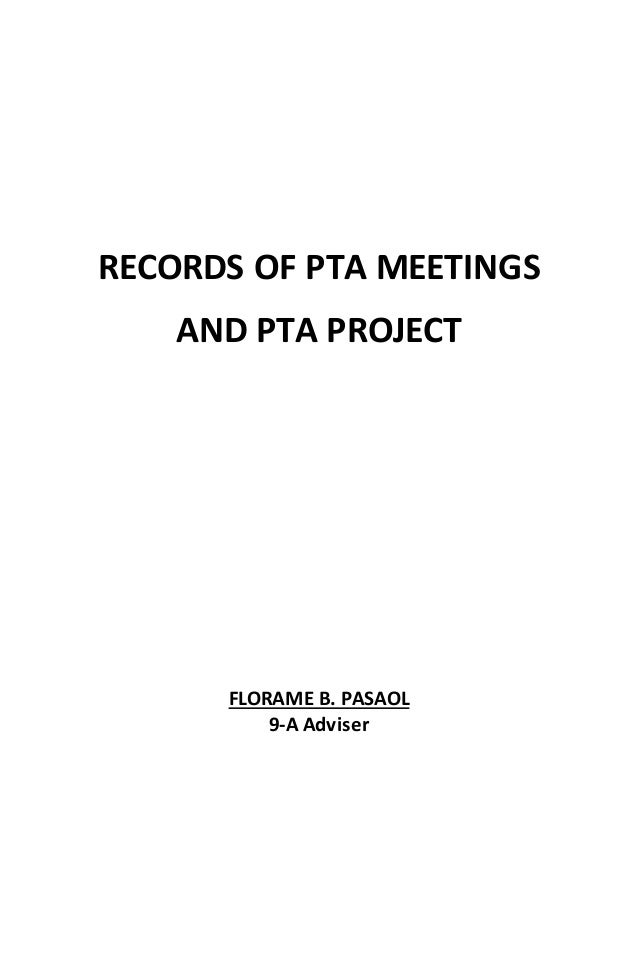 Records of pta meetings