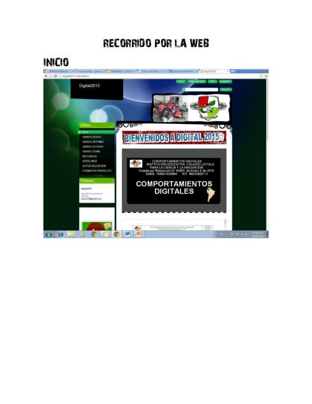 RECORRIDO POR LA WEB INICIO