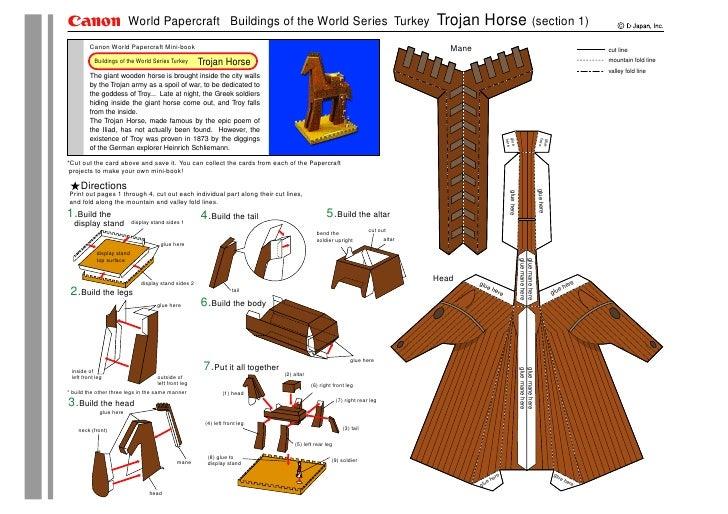 World Papercraft Buildings of the World Series Turkey                                                       Trojan Horse (...