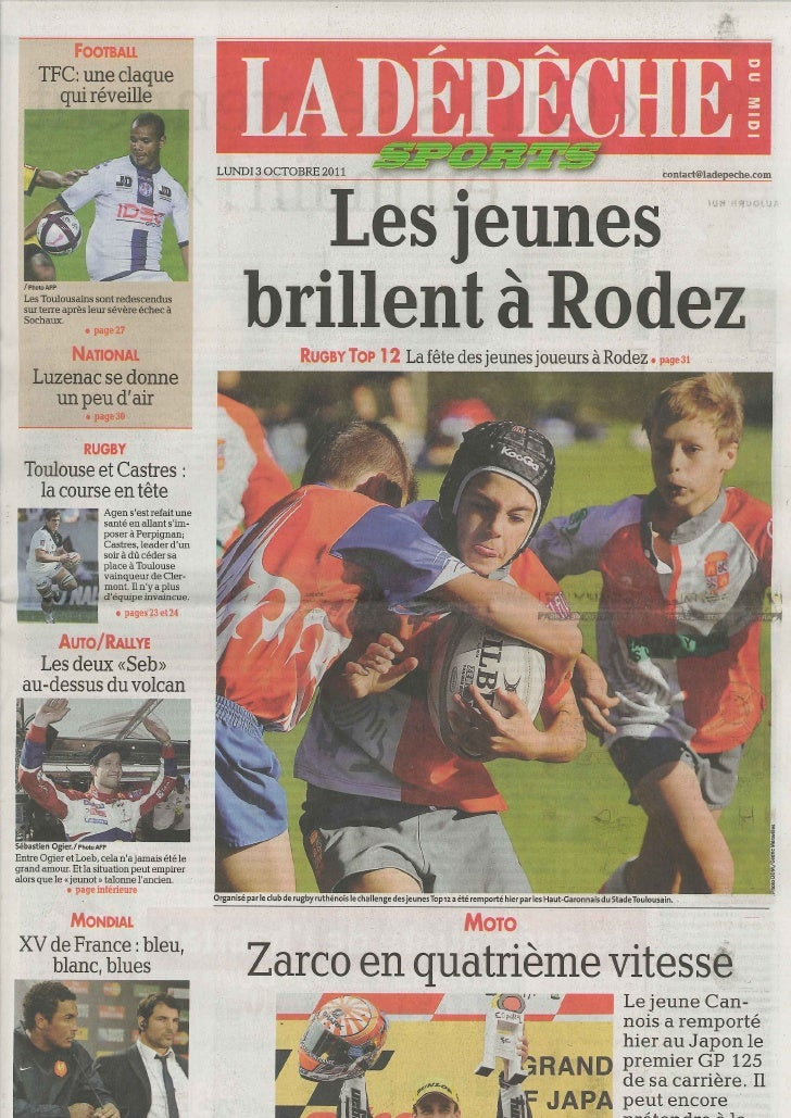 Recortes Prensa TOP 12 Rodez-FRA 2011