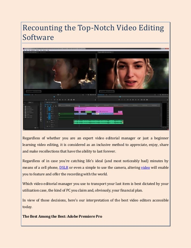 827d4026516 Recounting the Top-Notch Video Editing Software