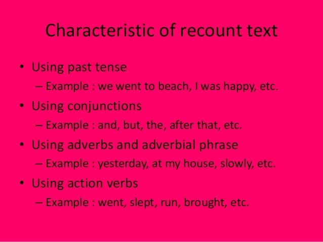recount text The paper is concerned with investigating the students' ability and difficulties and  possible solutions to their difficulty in writ- ing recount text in eight grade of a.