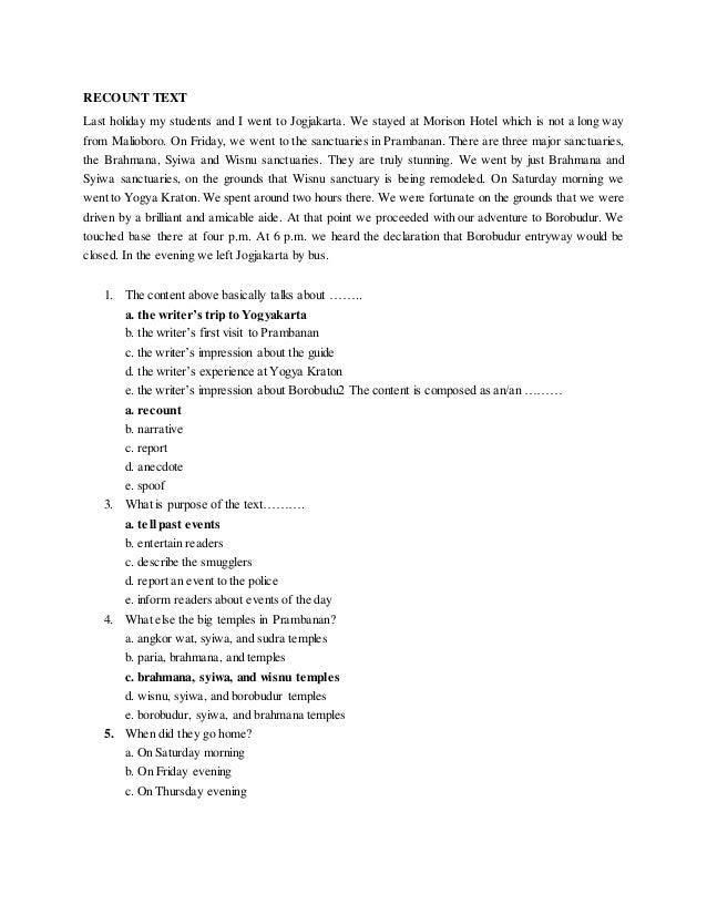 Contoh Soal Bahasa Inggris Report Text Beserta Jawabannya Contoh Soal Terbaru