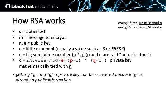 rsa public key exponent value