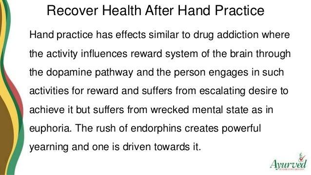 Hand practice of penis