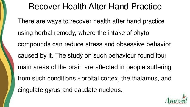 how to recover health after hand practice using herbal remedy