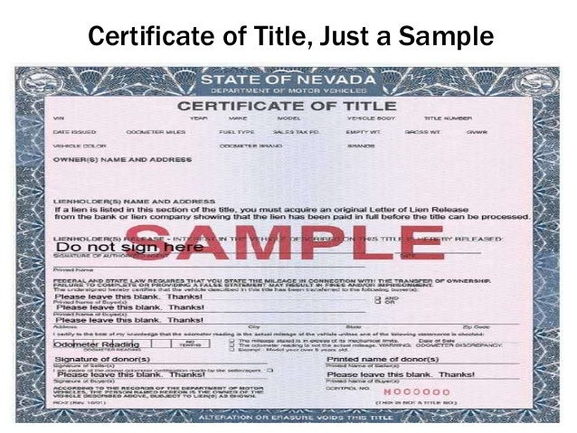 Recover All Vehicle Title