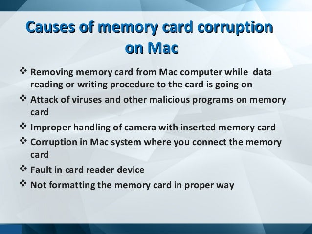 Corrupted memory card recovery mac