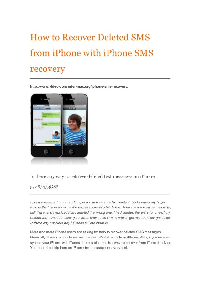 recovering deleted text messages iphone how to recover sms text message from iphone 5 4s 4 3gs 17945