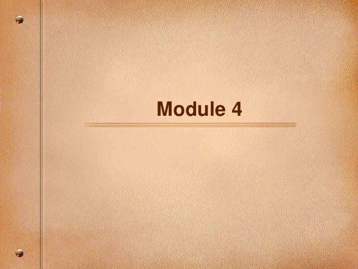 Module 4<br />