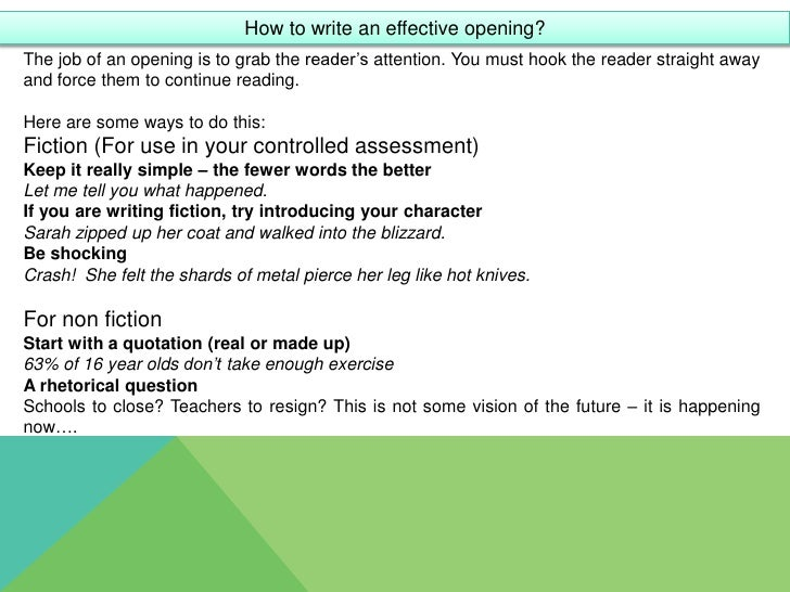 Creative writing service techniques gcse