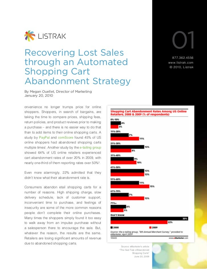 Recovering Lost Sales                                                                                         01          ...