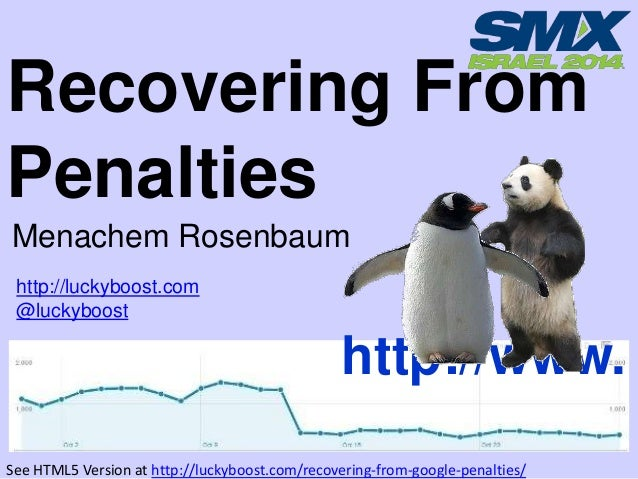 Recovering From Penalties Menachem Rosenbaum http://luckyboost.com @luckyboost  http://www. See HTML5 Version at http://lu...
