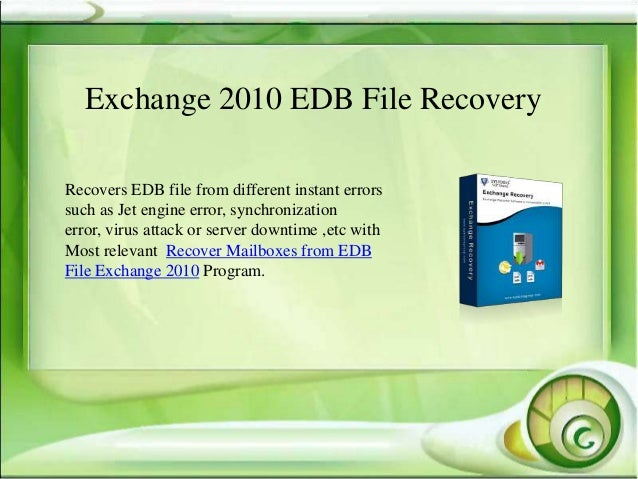recover edb file exchange 2010