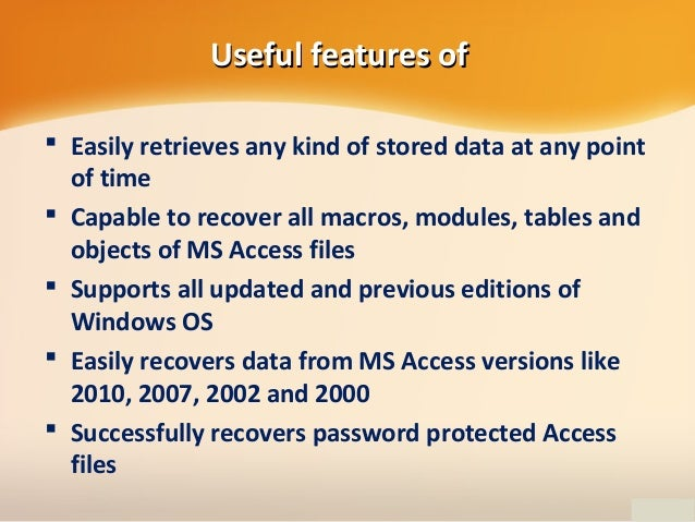 Recover Deleted or Lost Microsoft Access Files on Computer