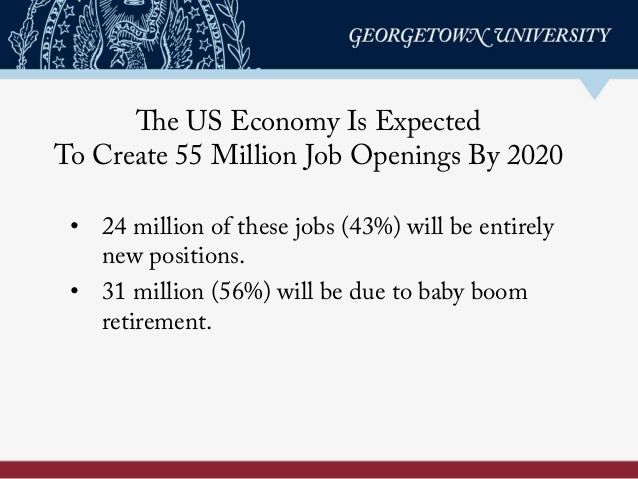 Recovery: Job Growth and Education Requirements Through 2020 Slide 3