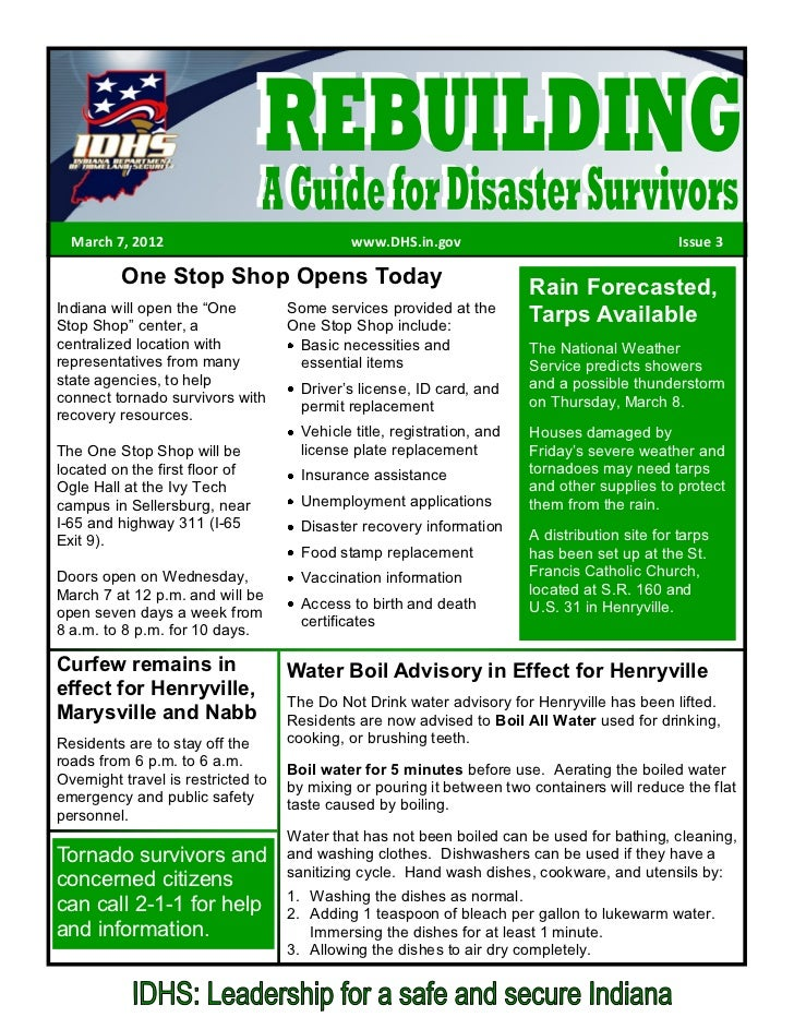 March 7, 2012                               www.DHS.in.gov                                     Issue 3          One Stop S...