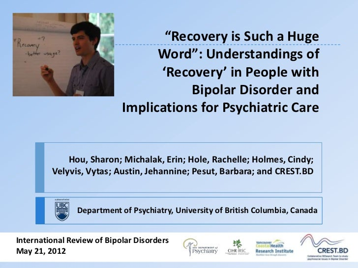 """""""Recovery is Such a Huge                                  Word"""": Understandings of                                  'Recov..."""