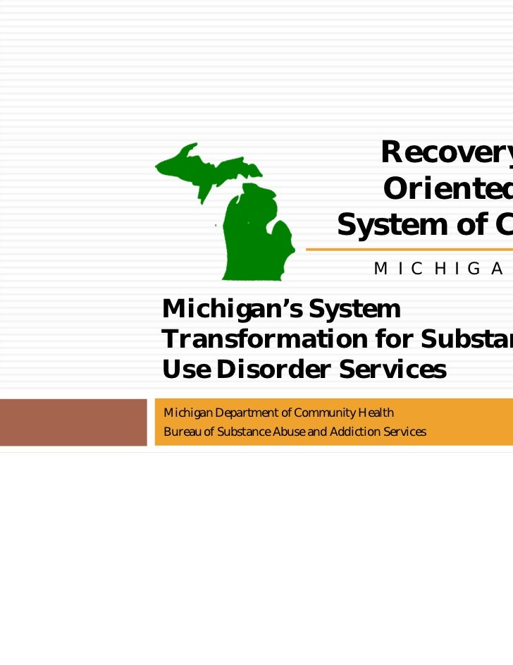 Recovery                                  Oriented                               System of Care                           ...