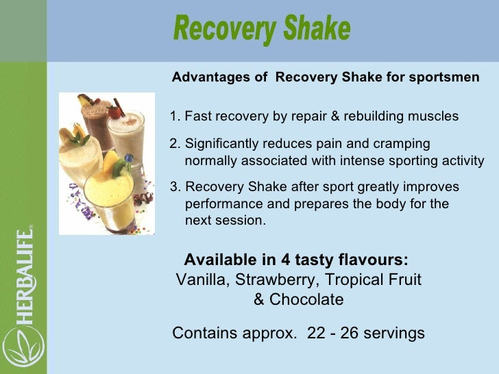 Advantages of  Recovery Shake for sportsmen 2. Significantly reduces pain and cramping normally associated with intense sp...