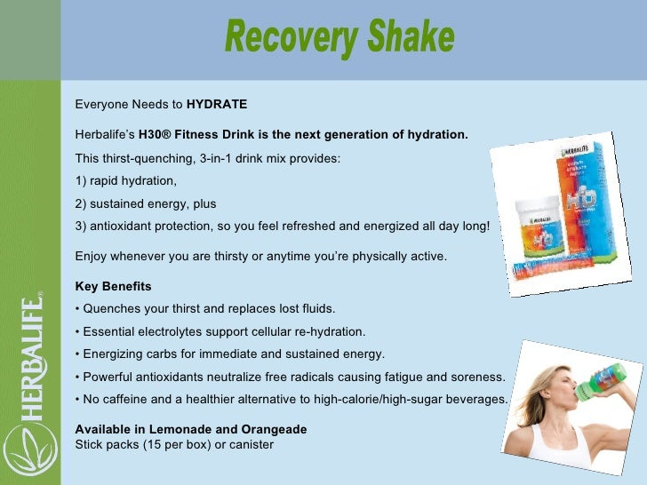 Recovery Shake Everyone Needs to  HYDRATE Herbalife's  H30® Fitness Drink is the next generation of hydration.  This thirs...