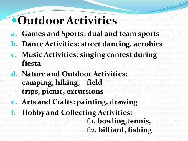 define outdoor recreation