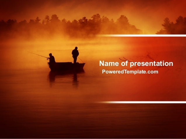 recreational fishing powerpoint template by