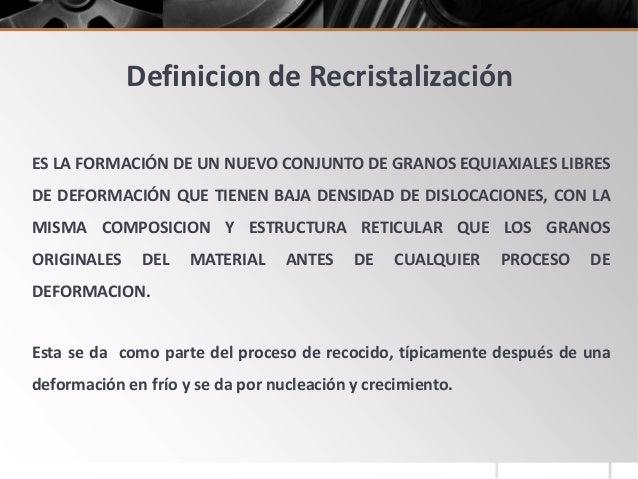 Recristalizacion for Definicion de gastronomia pdf