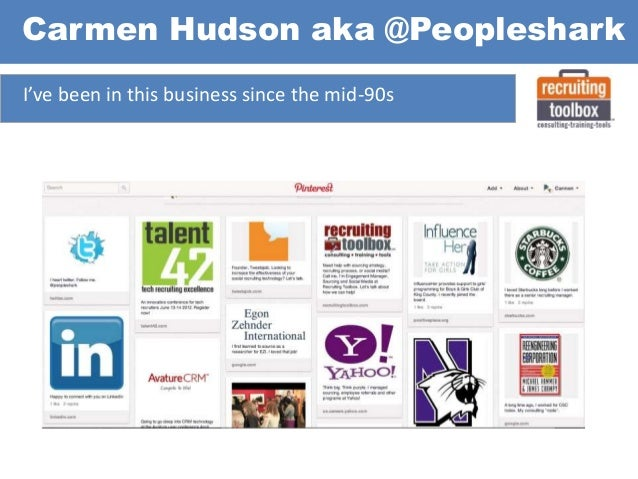 I've been in this business since the mid-90s Carmen Hudson aka @Peopleshark