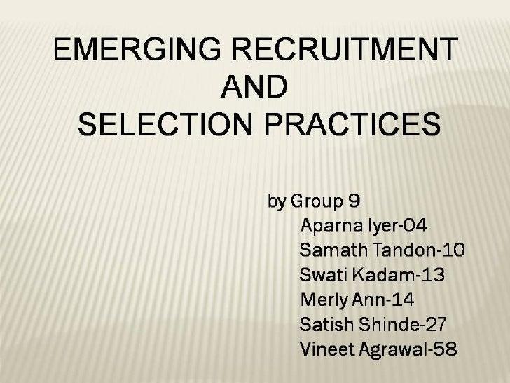 Recruitement Techniques