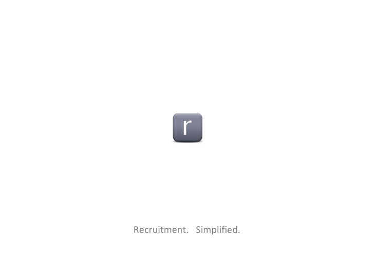 Recruitment.  Simplified.