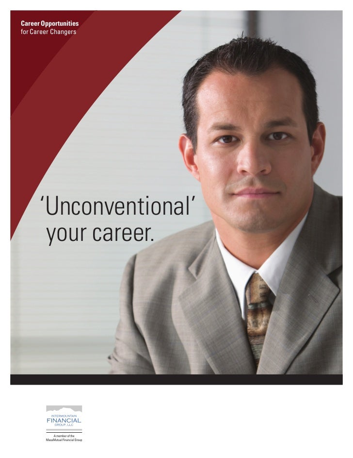 Career Opportunitiesfor Career Changers      'Unconventional'       your career.Headline 1 line (34–42 pt. size)Optional s...