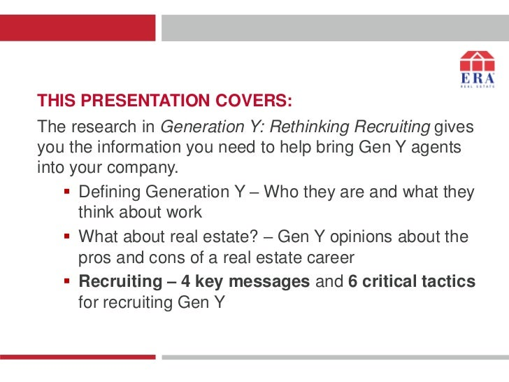 THIS PRESENTATION COVERS:The research in Generation Y: Rethinking Recruiting givesyou the information you need to help bri...