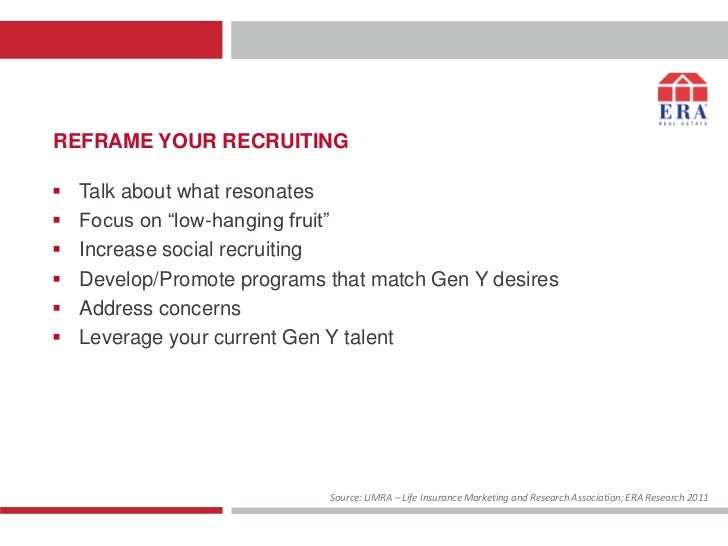 """REFRAME YOUR RECRUITING   Talk about what resonates   Focus on """"low-hanging fruit""""   Increase social recruiting   Deve..."""