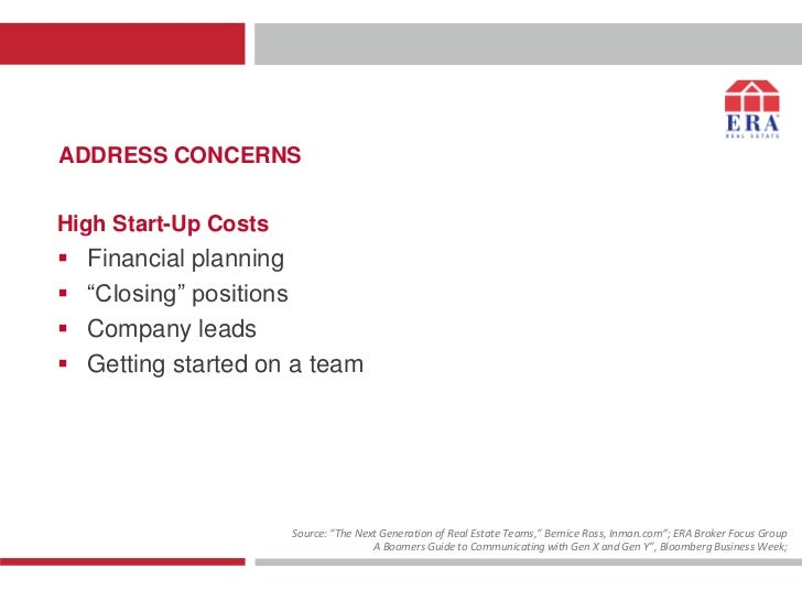 """ADDRESS CONCERNSHigh Start-Up Costs   Financial planning   """"Closing"""" positions   Company leads   Getting started on a ..."""