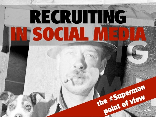 RECRUITINGIN SOCIAL MEDIA                         an                    erm                 up ew            e #S      vi ...