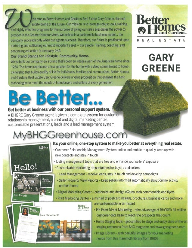 Join Better Homes And Gardens Real Estate Gary Greene
