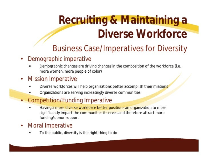 how to create a diverse workforce