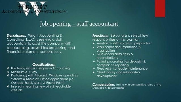 job description for staff accountant