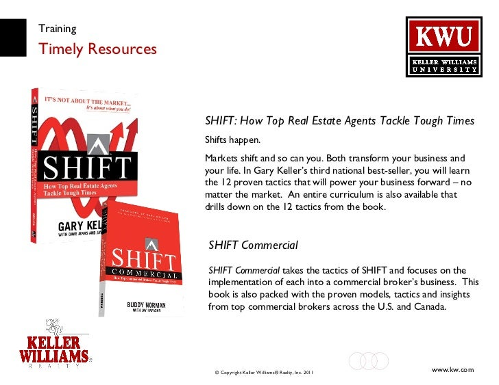 Training Timely Resources SHIFT: How Top Real Estate Agents Tackle Tough Times Shifts happen. Markets shift and so can you...