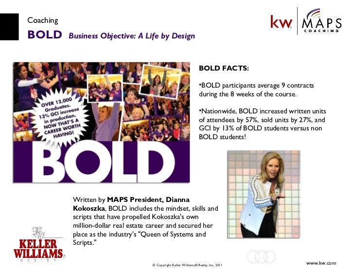 Coaching BOLD  Business Objective: A Life by Design Written by  MAPS President, Dianna Kokoszka , BOLD includes the mindse...