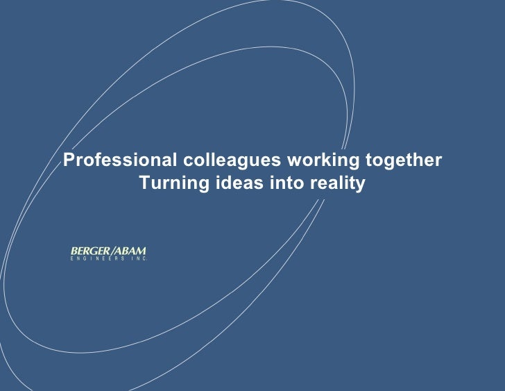 Professional colleagues working together Turning ideas into reality