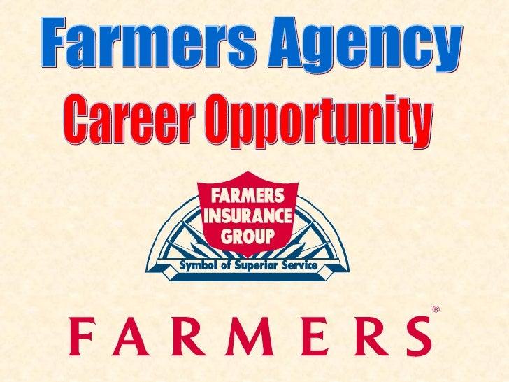 Farmers Agency Career Opportunity