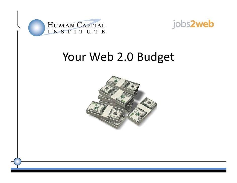 YourWeb2.0Budget