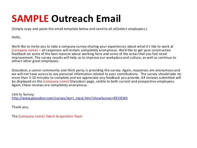 how to write an email to a potential employer sample