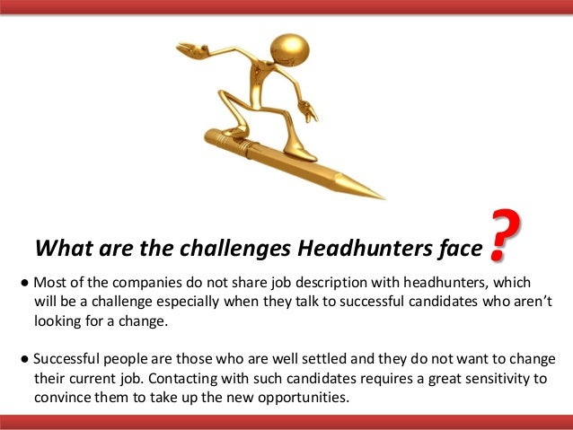 Job recruiter head hunter